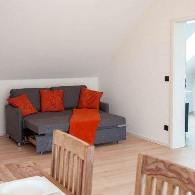 Offener Wohnbereich in der Ferienwohnung Robert Brack Herrsching